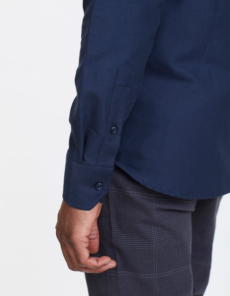 Oliver Oxford Skjorte - Navy