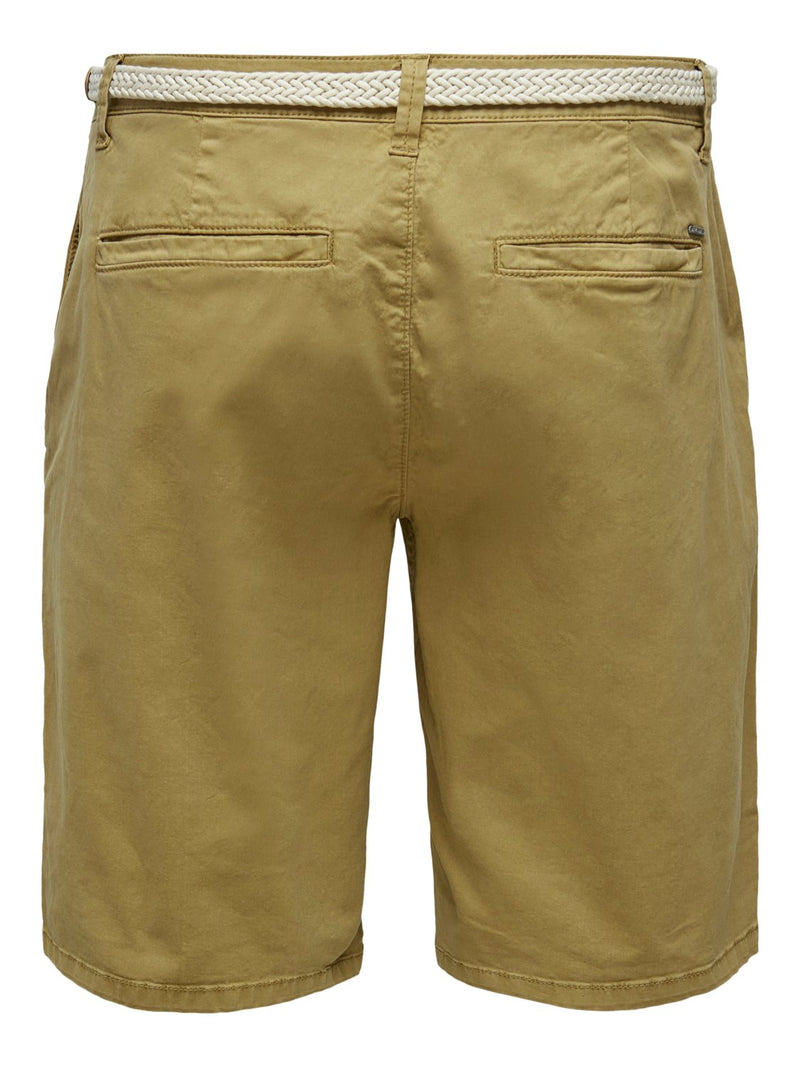 Will Chino Shorts m/Belte 6557 - Dull Gold