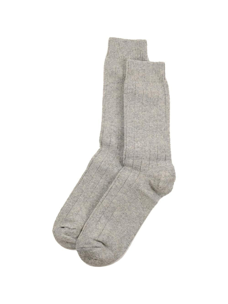 The Basic Wool Sock - Light Grey Melange