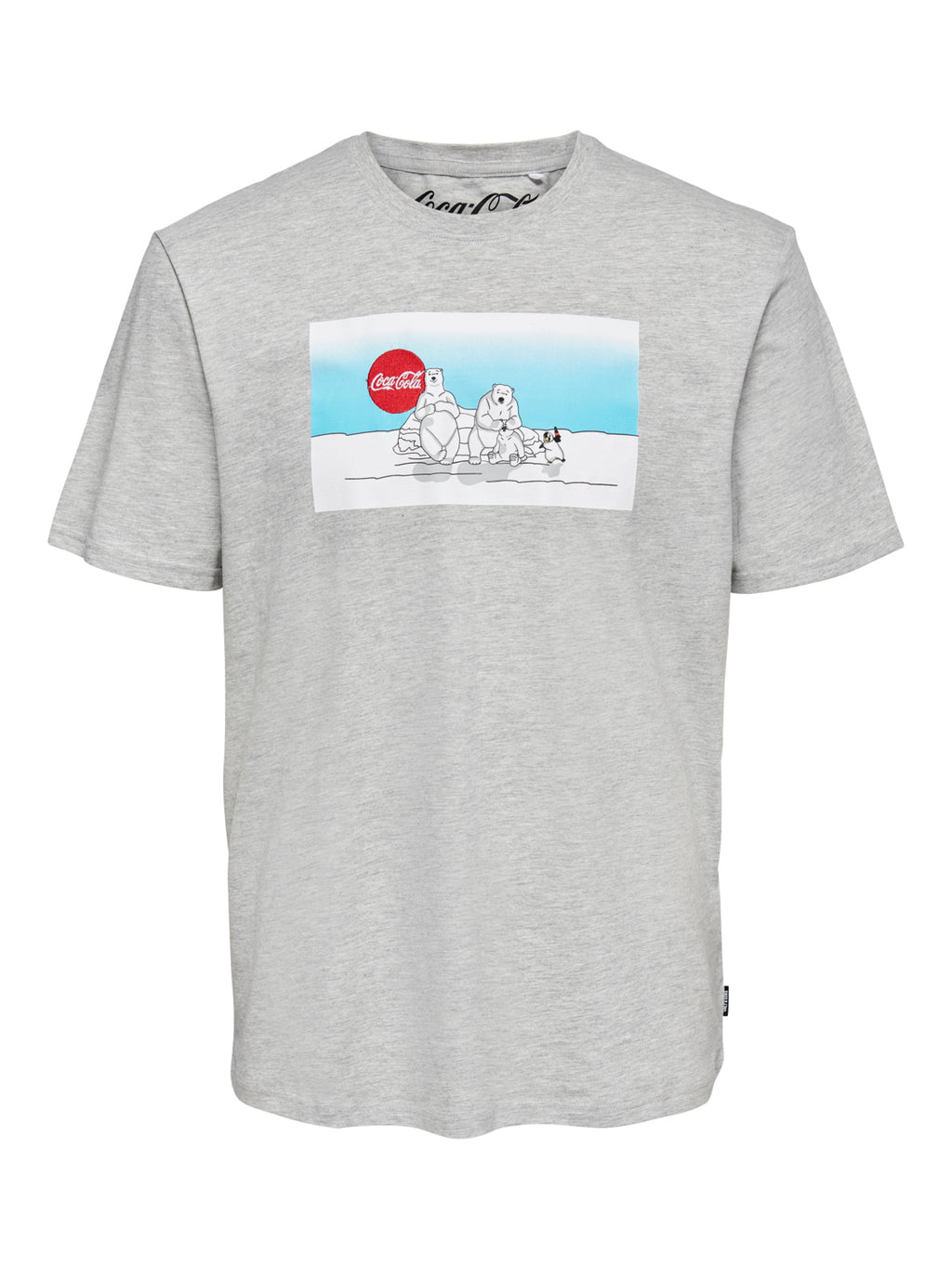 Coca-Cola Xmas T-Skjorte - Light Grey Melange