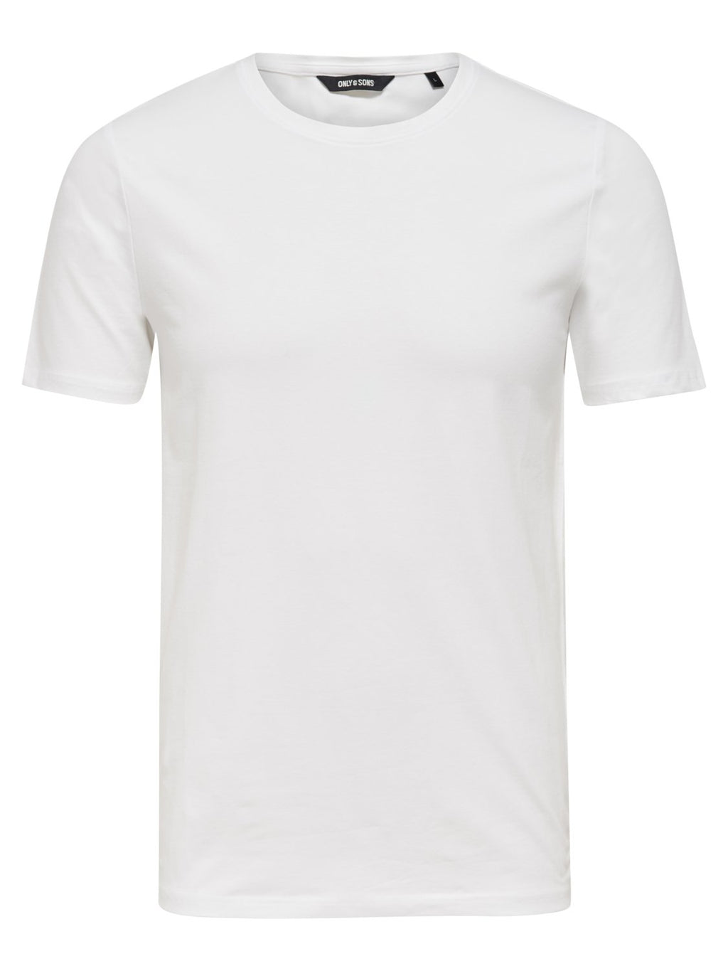 Basic Stretch T-Skjorte Rund hals - White