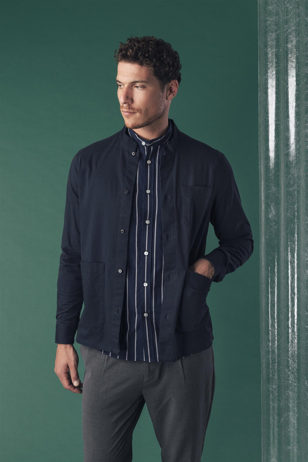 Pierre Overshirt - Navy