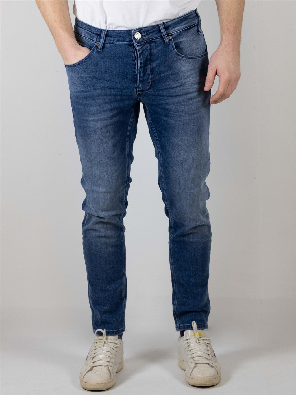 Rey Flex Jeans Slim Tapered K3866 - Medium Blue Denim