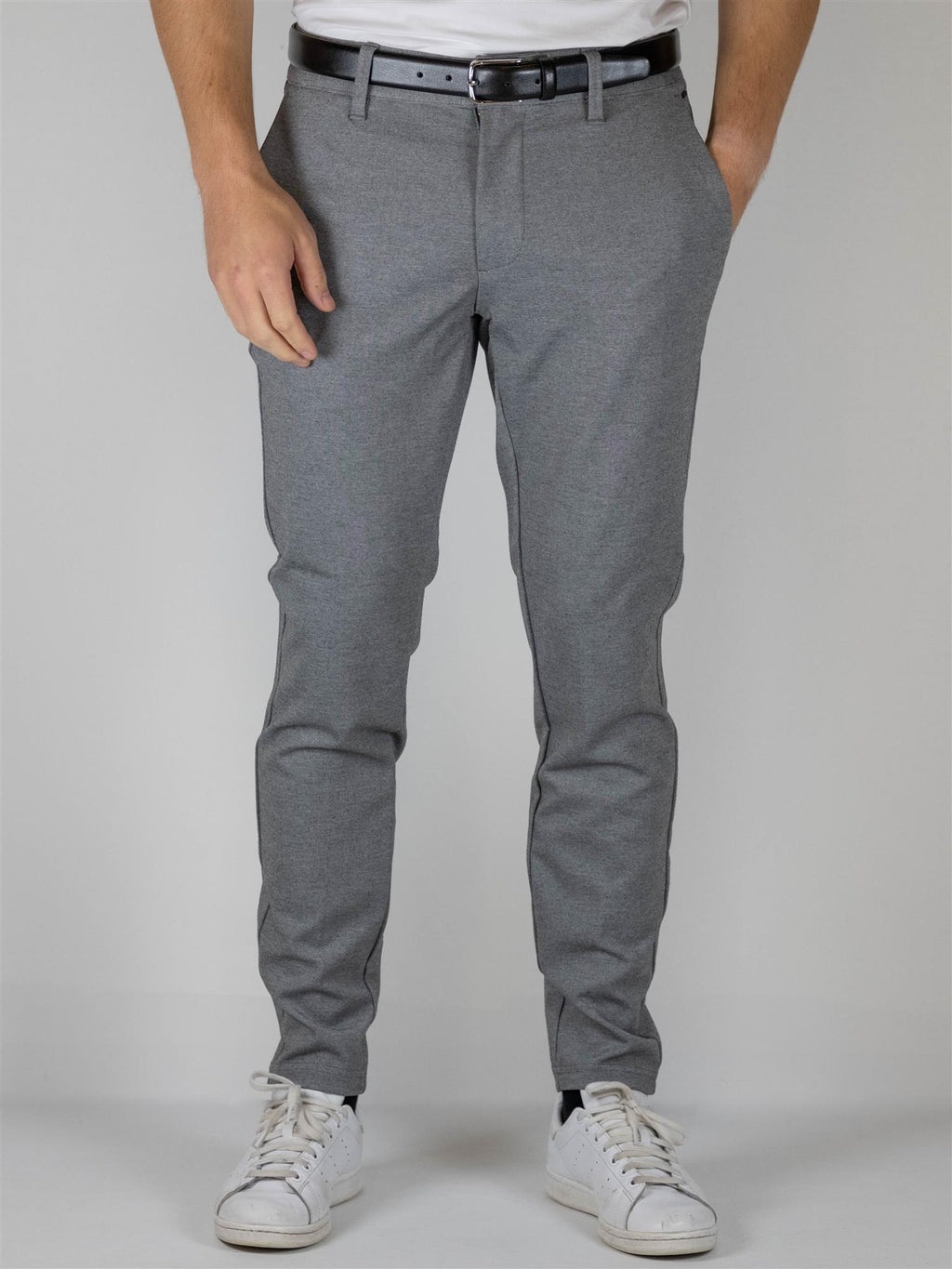Mark Flex pant 0209 - Medium Grey Melange