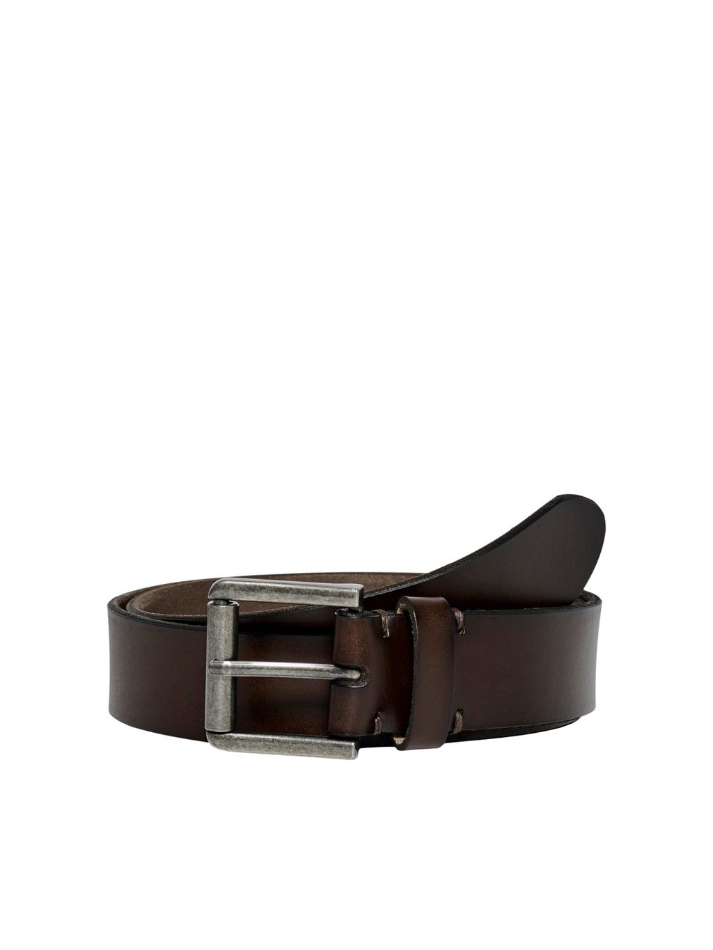 Carm Leather Belte - Brown Stone