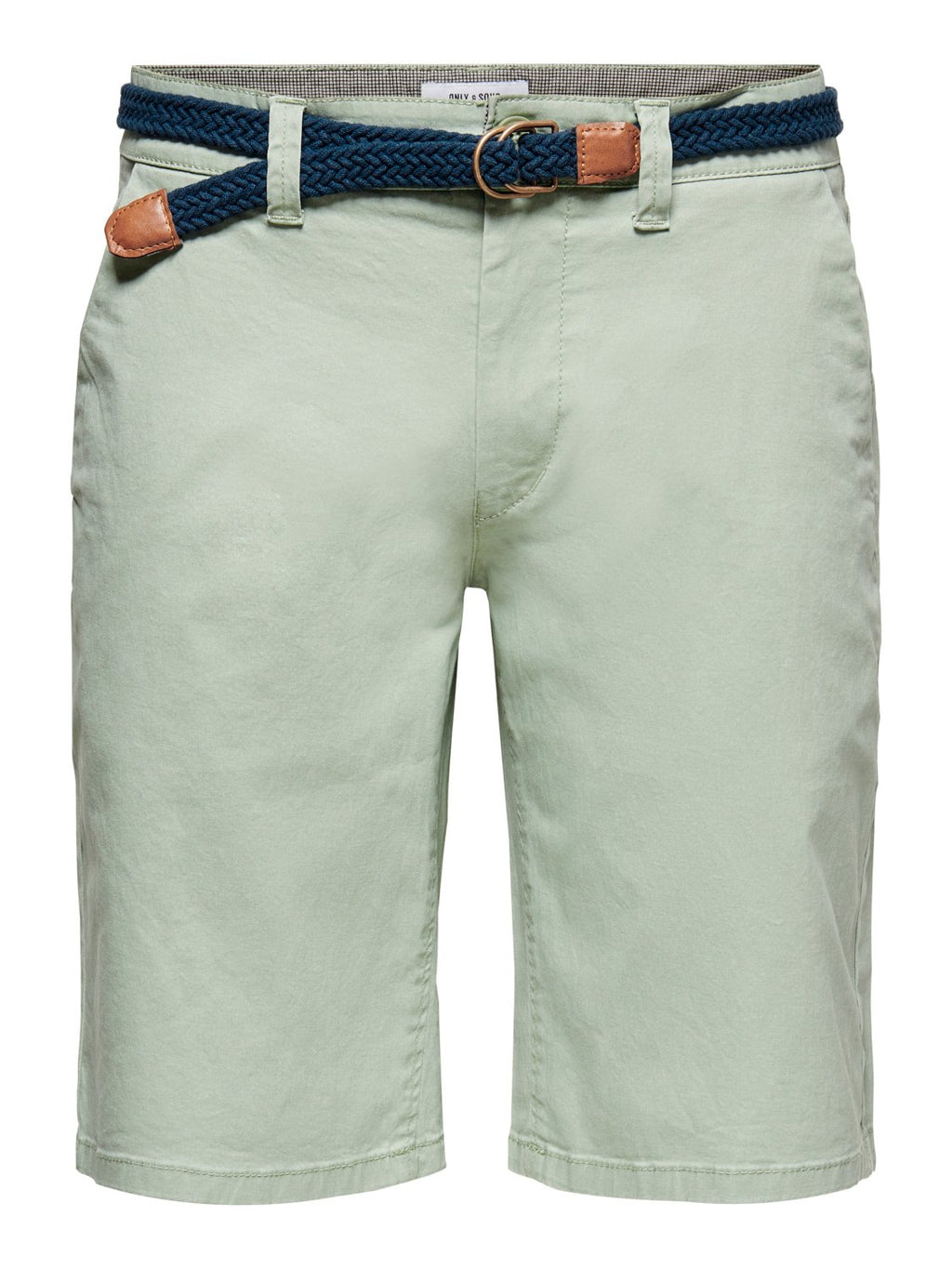 Will Chino Shorts m/Belte 6557 - Seagrass