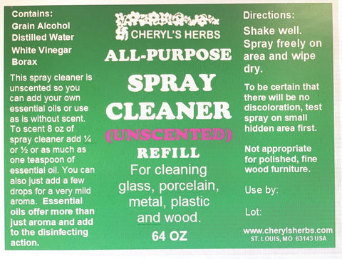 ALL-PURPOSE SPRAY CLEANER (UNSCENTED)