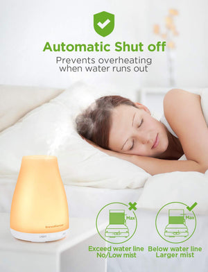 Diffuser for Essential Oils/Aromatherapy, Cool Mist Humidifier with Color Lights and 2 Mist Mode for Home or Office - Cheryls Herbs