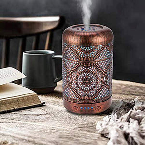 Metal Vintage Essential Oil Diffusers with Waterless Auto Shut-Off Protection, Cool Mist Humidifier for home and office - Cheryls Herbs