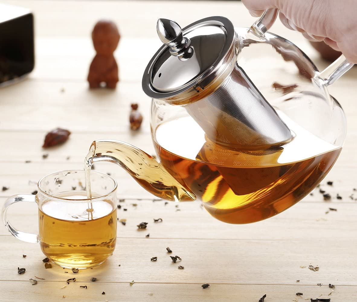 Glass Teapot with Infuser - Cheryls Herbs