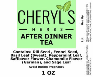 AFTER DINNER TEA - Cheryls Herbs