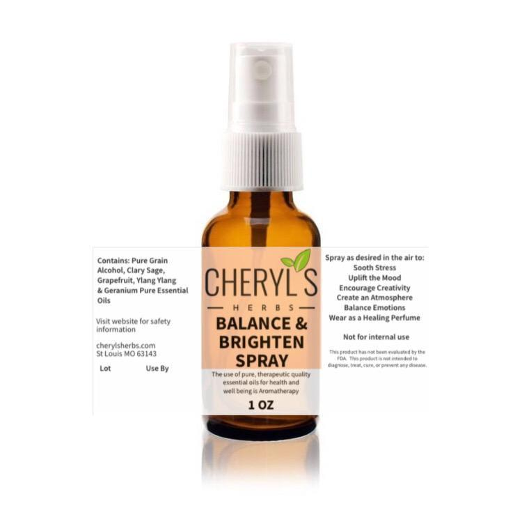 BALANCE AND BRIGHTEN SPRAY - Cheryls Herbs