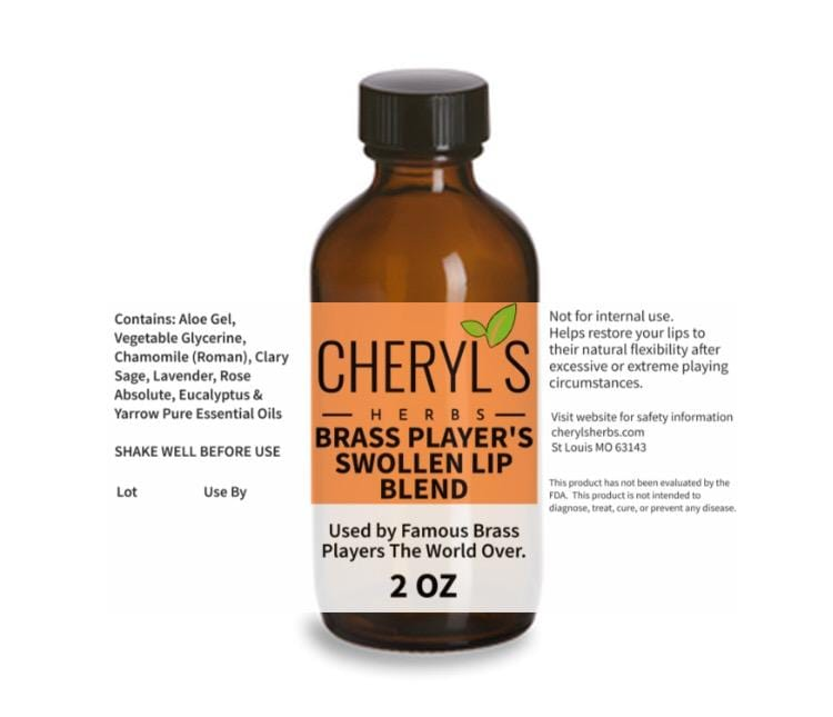 BRASS PLAYERS SWOLLEN LIP BLEND - Cheryls Herbs