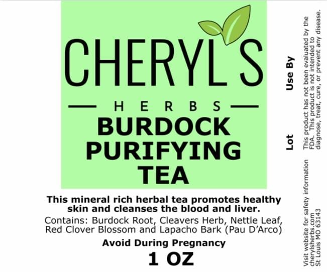 BURDOCK PURIFYING TEA - Cheryls Herbs