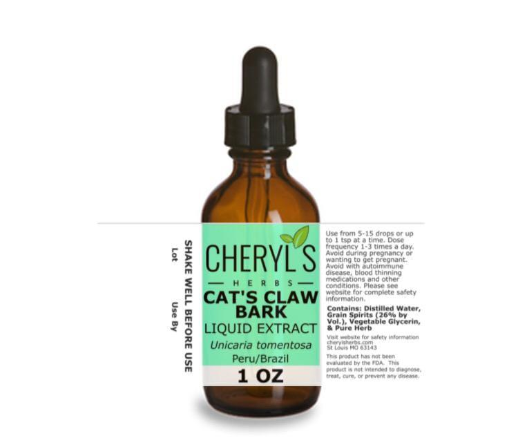 CAT'S CLAW BARK LIQUID EXTRACT - Cheryls Herbs