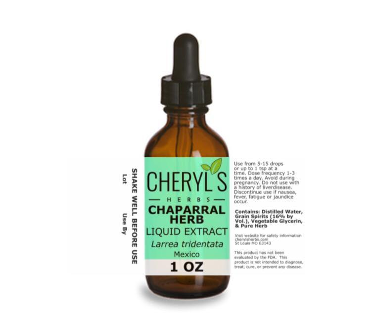 CHAPARRAL LEAF AND FLOWER LIQUID EXTRACT - Cheryls Herbs