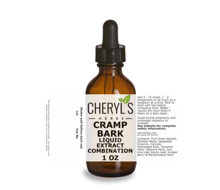 CRAMP BARK LIQUID EXTRACT COMBINATION - Cheryls Herbs