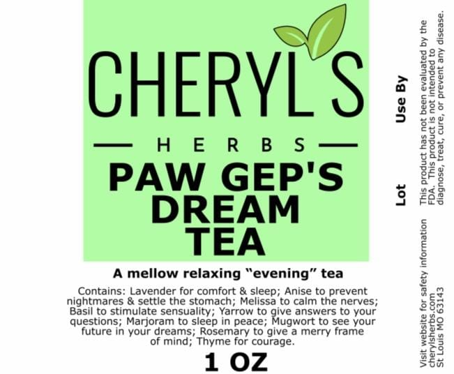 DREAM TEA Paw Gep's - Cheryls Herbs