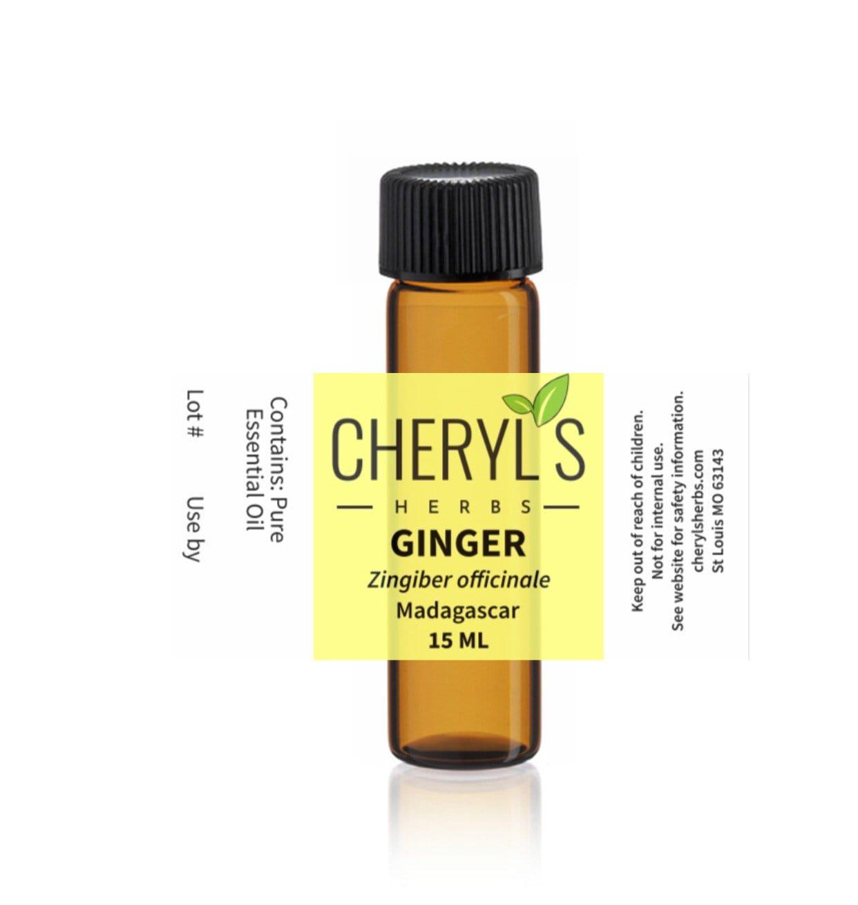 GINGER ESSENTIAL OIL - Cheryls Herbs