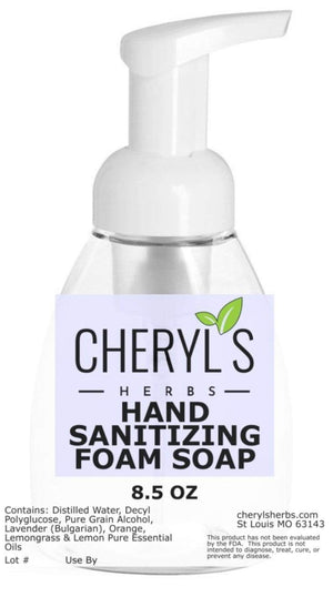 HAND SANITIZING FOAM SOAP - Cheryls Herbs