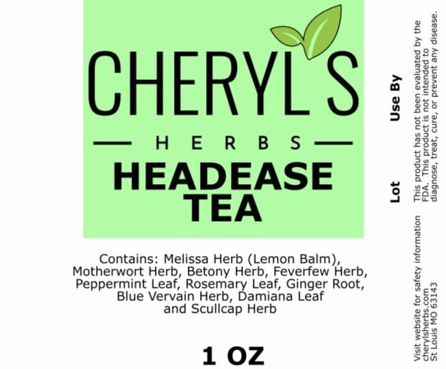 HEADEASE TEA - Cheryls Herbs