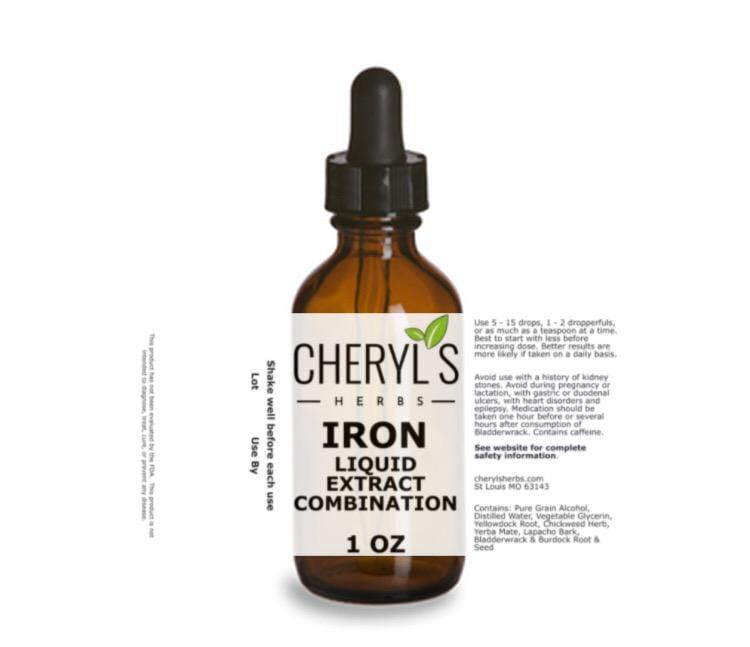 IRON LIQUID EXTRACT COMBINATION - Cheryls Herbs