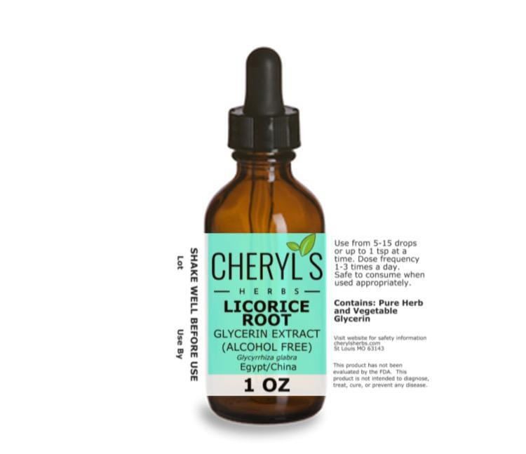 LICORICE ROOT GLYCERIN EXTRACT - Cheryls Herbs