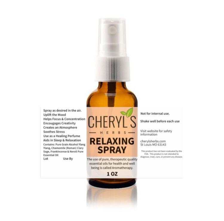RELAXING SPRAY - Cheryls Herbs