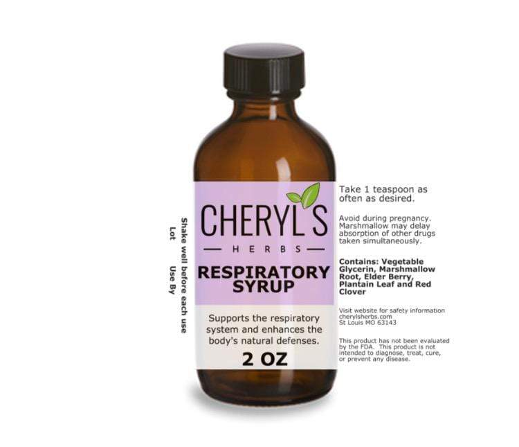 RESPIRATORY SYRUP - Cheryls Herbs