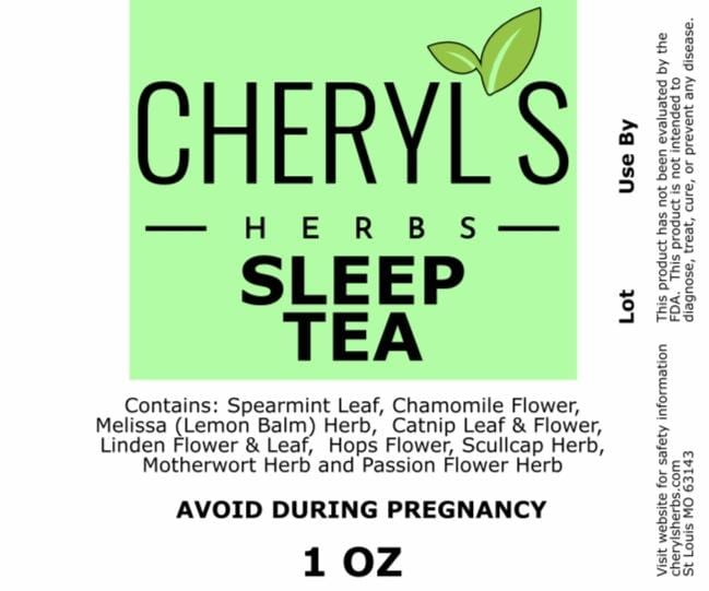 SLEEP TEA - Cheryls Herbs