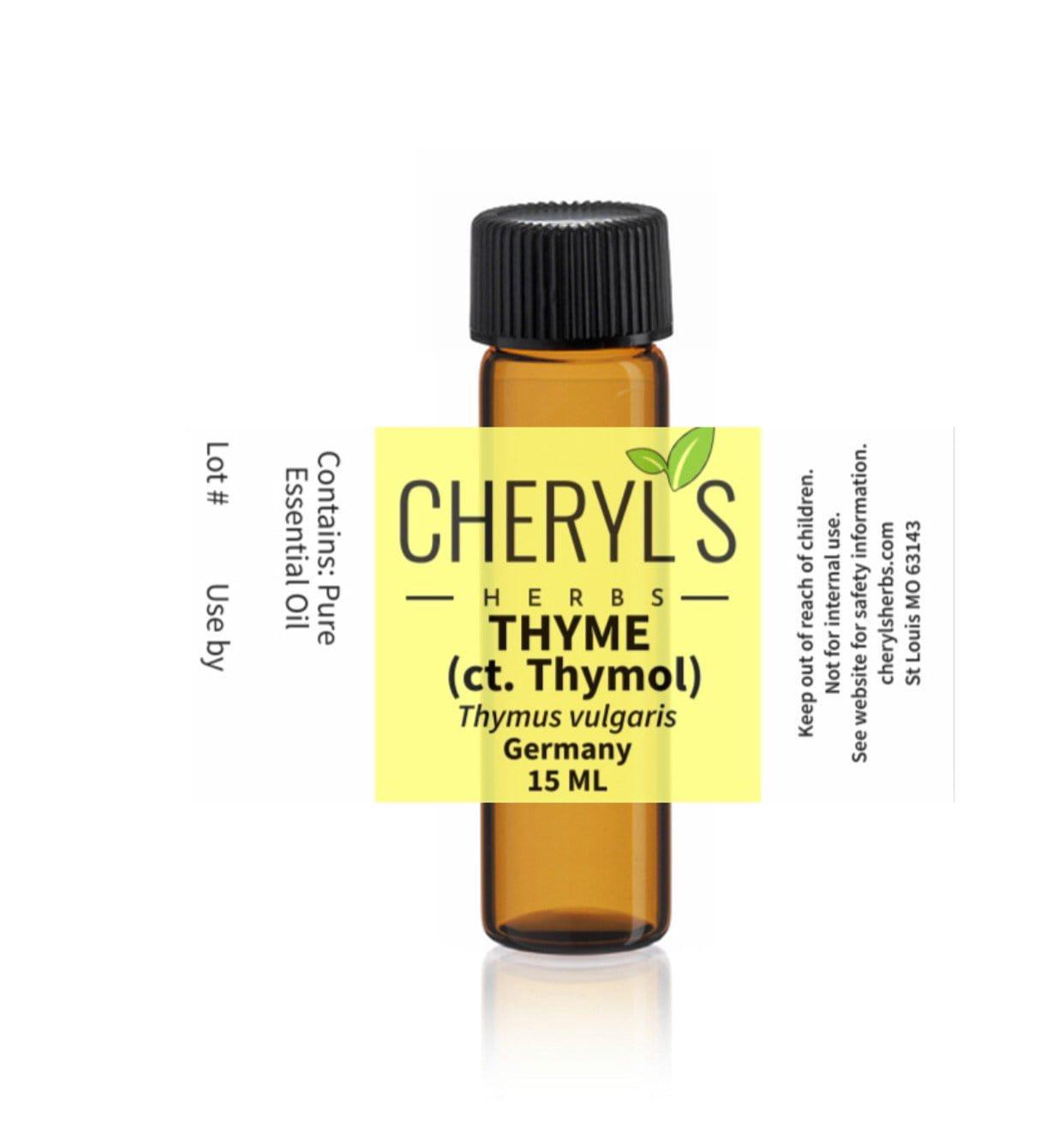 THYME ct. Thymol, RED ESSENTIAL OIL - Cheryls Herbs