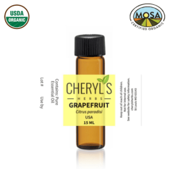 GRAPEFRUIT ESSENTIAL OIL - ORGANIC - Cheryls Herbs