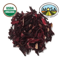 HIBISCUS FLOWER whole or cut - CERTIFIED ORGANIC - Cheryls Herbs