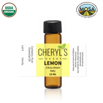 LEMON ESSENTIAL OIL - ORGANIC - Cheryls Herbs
