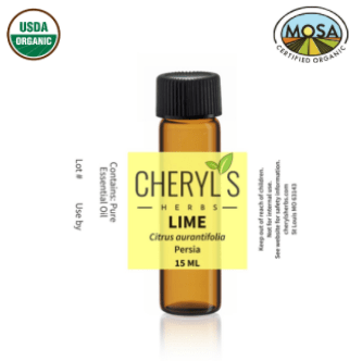 LIME COLD PRESSED ESSENTIAL OIL - ORGANIC - Cheryls Herbs