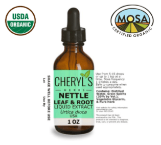 NETTLE LEAF, ROOT, AND SEED LIQUID EXTRACT - ORGANIC - Cheryls Herbs