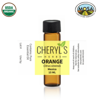 ORANGE ESSENTIAL OIL - ORGANIC - Cheryls Herbs