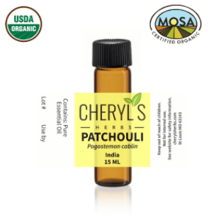 PATCHOULI ESSENTIAL OIL - 100% ORGANIC - Cheryls Herbs