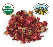 ROSE PETAL RED whole - CERTIFIED ORGANIC - Cheryls Herbs