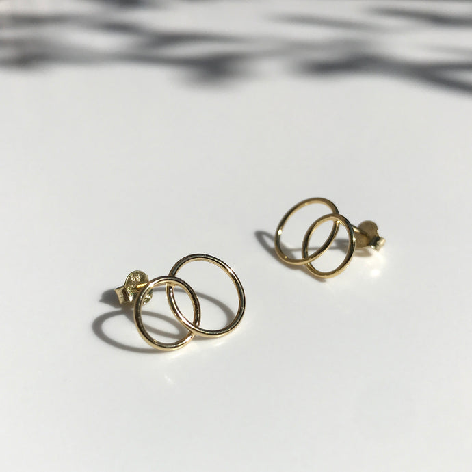 Gold Ines earrings
