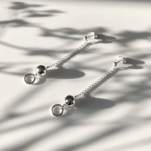 Load image into Gallery viewer, Silver Krystle ball earrings