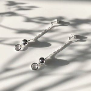 Silver Krystle ball earrings