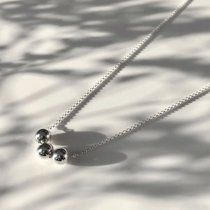 Silver Krystle ball necklace
