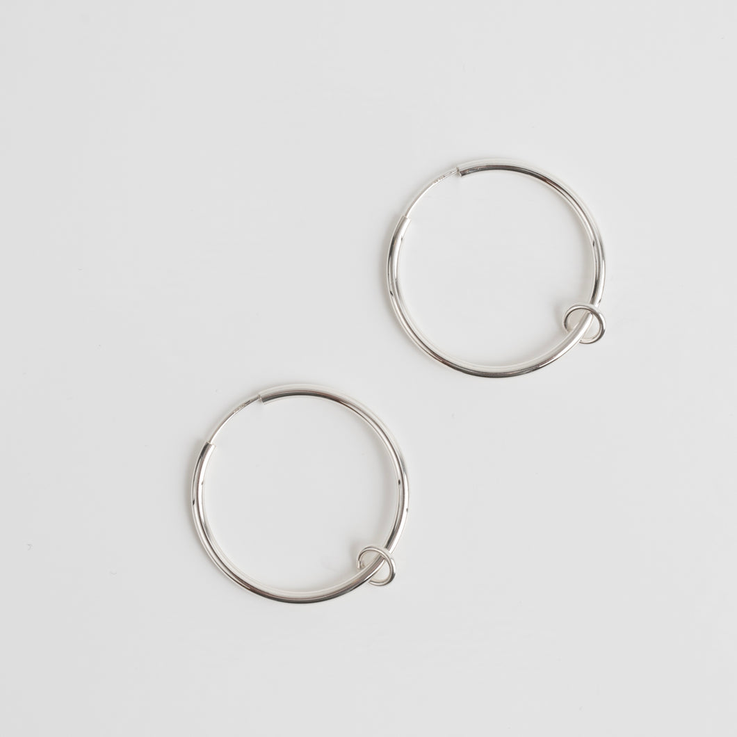 Silver Creole Ring earrings
