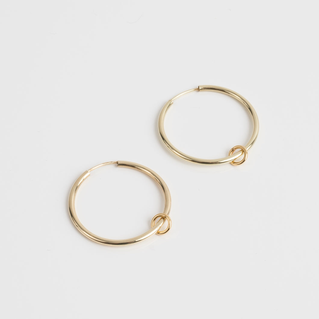 Gold Creole Ring earrings