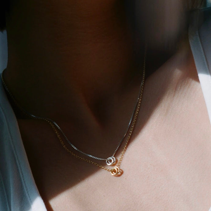 Gold Mini Rings necklace