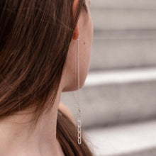 Load image into Gallery viewer, Silver Leo earrings