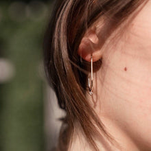 Load image into Gallery viewer, Hoops zirconia earrings
