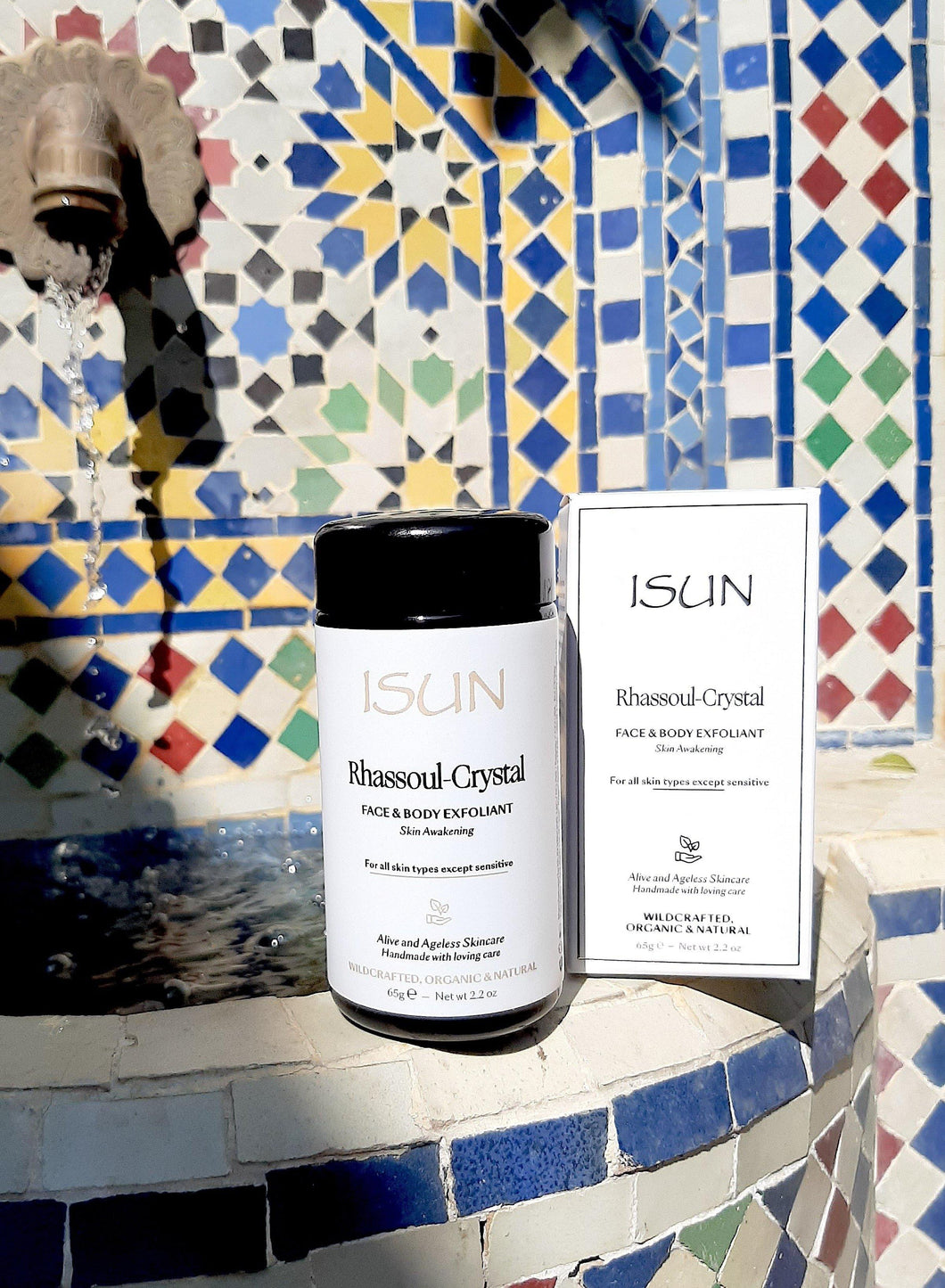 ISUN Rhassoul Crystal Face & Body Exfoliant - Carasoin