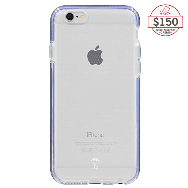 Ultra-thin protective case + Insured Gadgets up to $150.00 protection for iPhone 6 & iPhone 6S - Blue